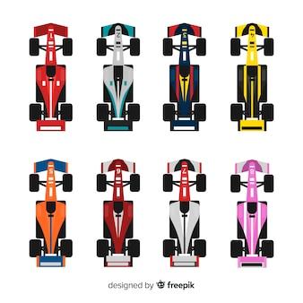 Verzameling van formule 1 auto's