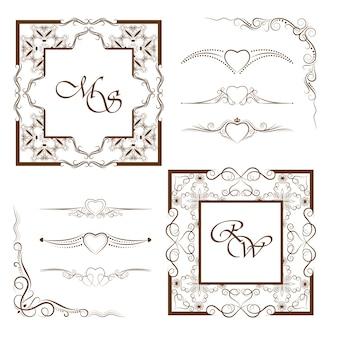 Verzameling van frames en verdelers.