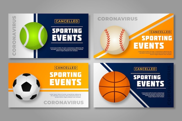 Verzameling van geannuleerde sportevenementen