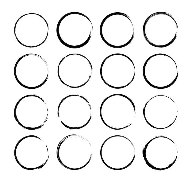 Verzameling van geborstelde cirkels