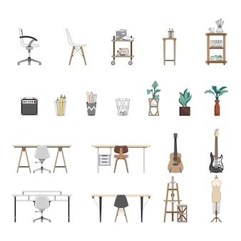 Verzameling van geïllustreerde items
