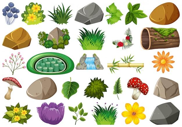 Verzameling van geïsoleerde aardelementen