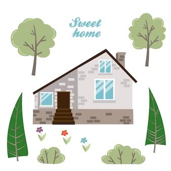 Verzameling van geïsoleerde huizen