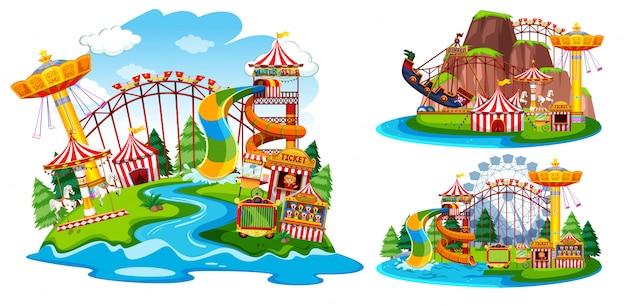 Verzameling van geïsoleerde themapark