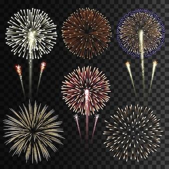 Verzameling van geïsoleerde vuurwerk