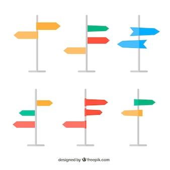 Verzameling van gekleurd signaal van adressen