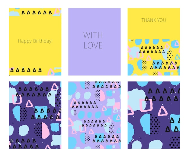 Verzameling van gelukkige verjaardag