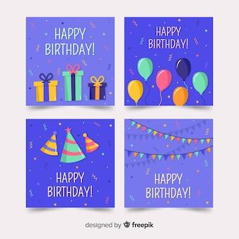 Verzameling van gelukkige verjaardagskaarten