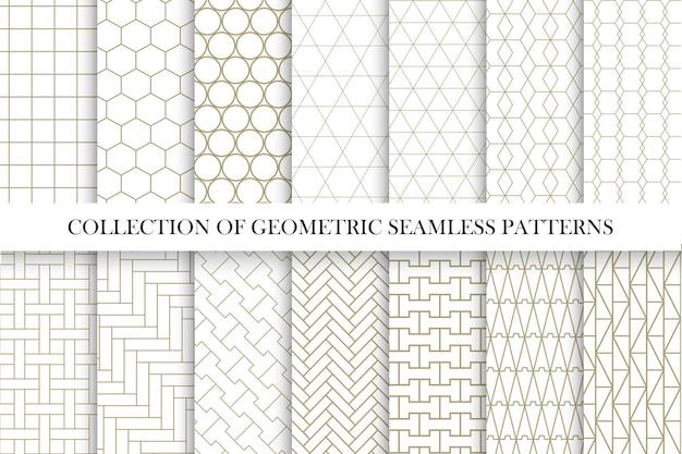 Verzameling van geometrische naadloze patronen eenvoudig minimaal ontwerp