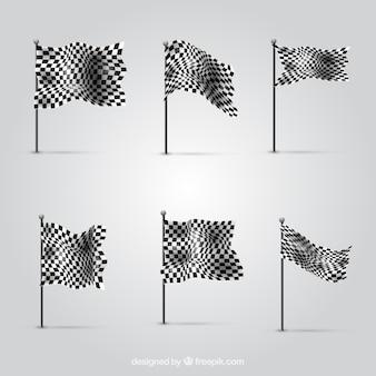 Verzameling van geruite vlaggen