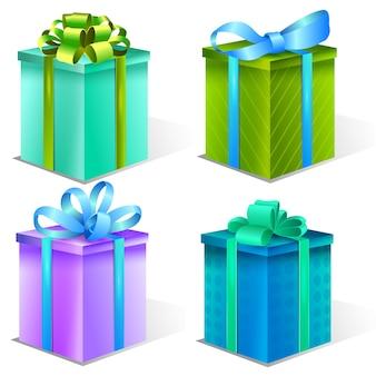 Verzameling van geschenkdozen decoratieve geschenken