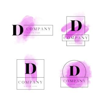 Verzameling van geschilderde d-logo's