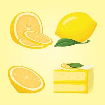 Verzameling van gesneden citroenen