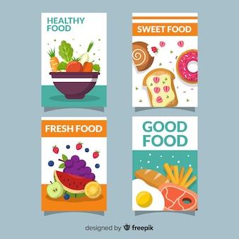 Verzameling van gezonde voedselkaarten
