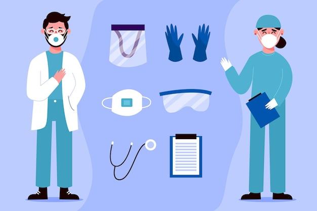 Verzameling van gezondheidswerkers