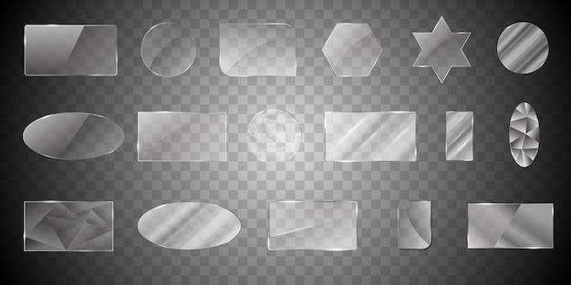 Verzameling van glasvormen