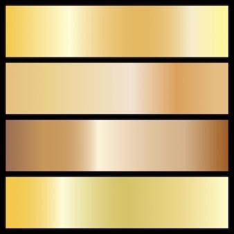 Verzameling van gouden gradiënt achtergronden