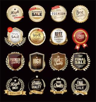 Verzameling van gouden luxe