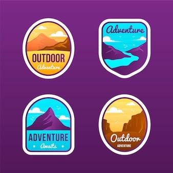Verzameling van gradient adventure-badges