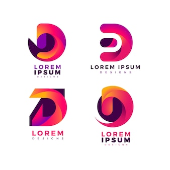Verzameling van gradiënt d-logo's