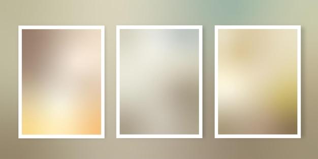 Verzameling van gradiëntachtergronden met aarde afgezwakt thema