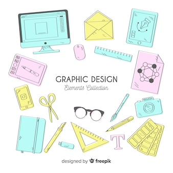 Verzameling van grafische ontwerpelementen