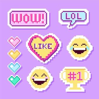 Verzameling van grappige lol stickers