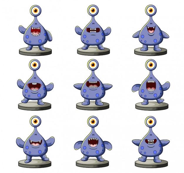 Verzameling van grappige monsters