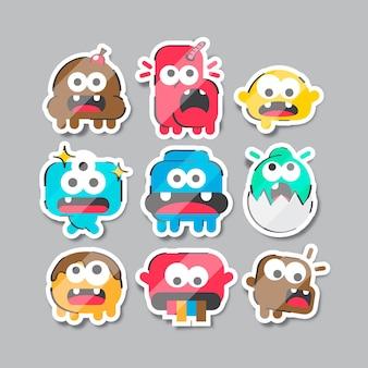 Verzameling van grappige stickers hand getrokken