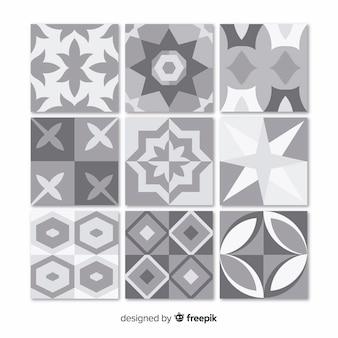 Verzameling van grijze tegels