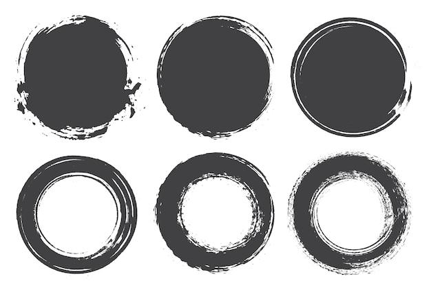 Verzameling van grunge cirkels