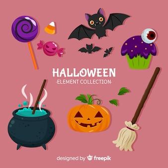 Verzameling van halloween elementen
