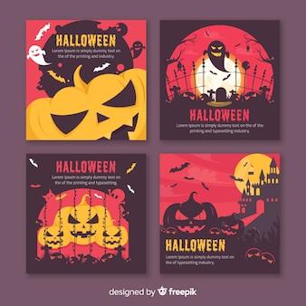Verzameling van halloween instagram post