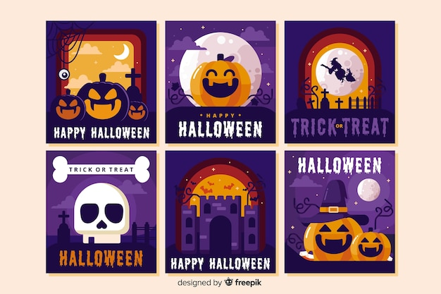 Verzameling van halloween-mix
