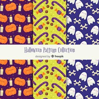 Verzameling van halloween patronen