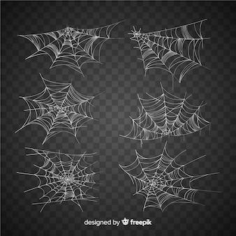 Verzameling van halloween spinnenwebben