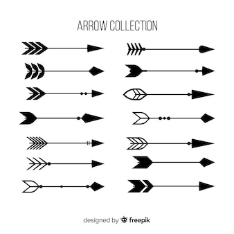 Verzameling van hand getrokken pijlen