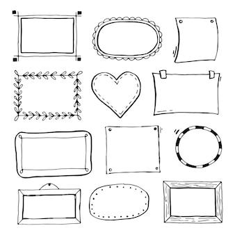 Verzameling van handgetekende frames