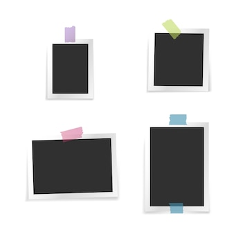 Verzameling van hangende fotolijsten illustratie