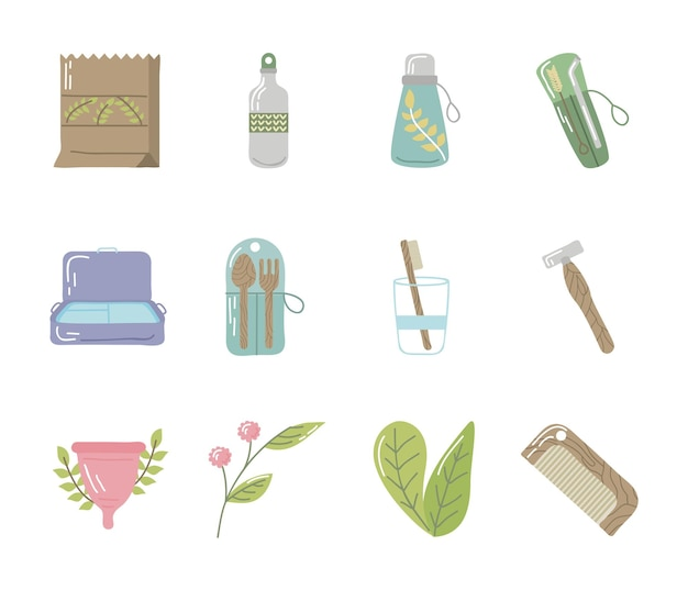 Verzameling van herbruikbare pictogrammen