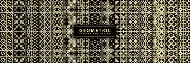 Verzameling van het luxe naadloze geometrische patroon