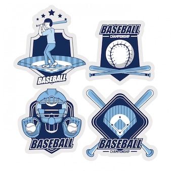Verzameling van honkbal emblemen