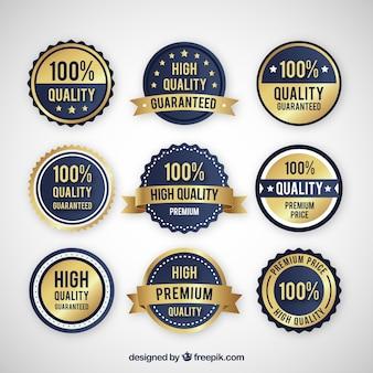 Verzameling van hoogwaardige stickers