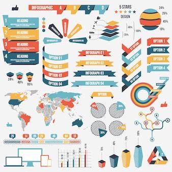 Verzameling van infograph-elementen
