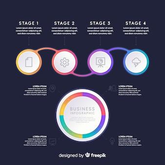 Verzameling van infographic elementen