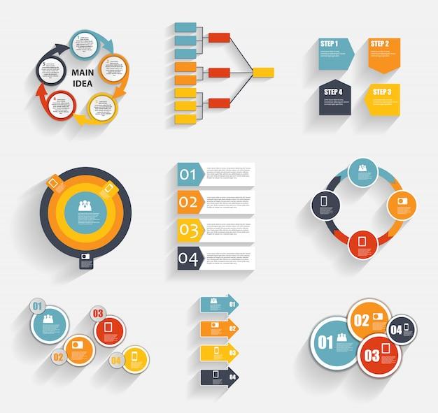 Verzameling van infographic sjablonen