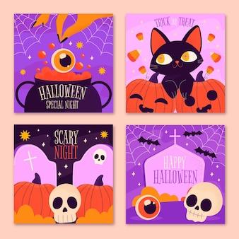 Verzameling van instagram-berichten van halloween