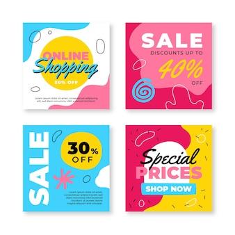 Verzameling van instagram-verkoopberichten