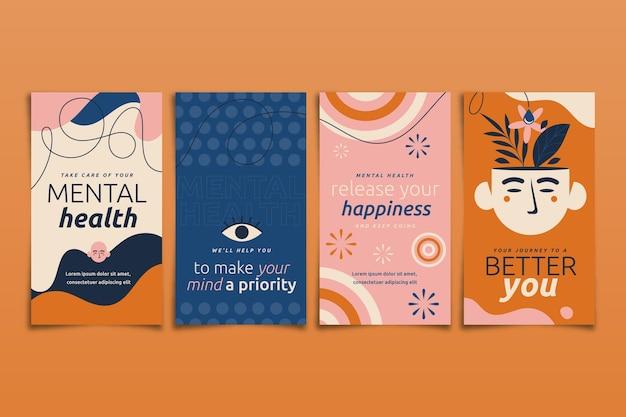 Verzameling van instagramverhalen over geestelijke gezondheid