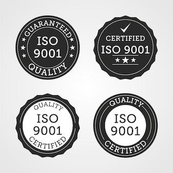 Verzameling van iso-certificeringszegel